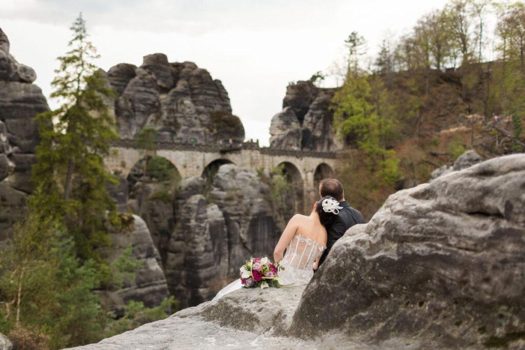 Hochzeit in der Sächsischen Schweiz Bastei