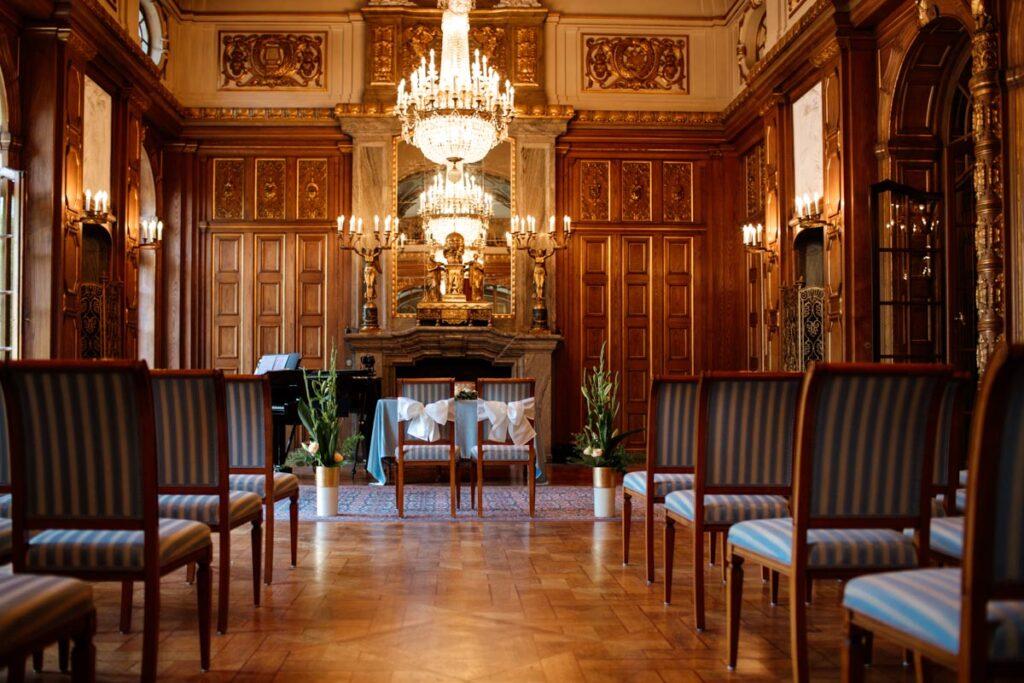 Schloss Waldenburg Hochzeit im Blauen Saal